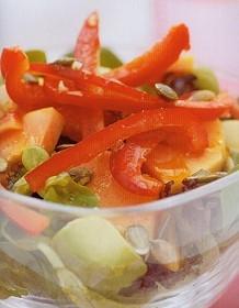 papaya-avocado-red-pepper-salad