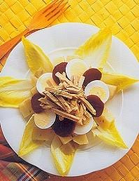 sweet-potato-egg-pork-and-beet-salad