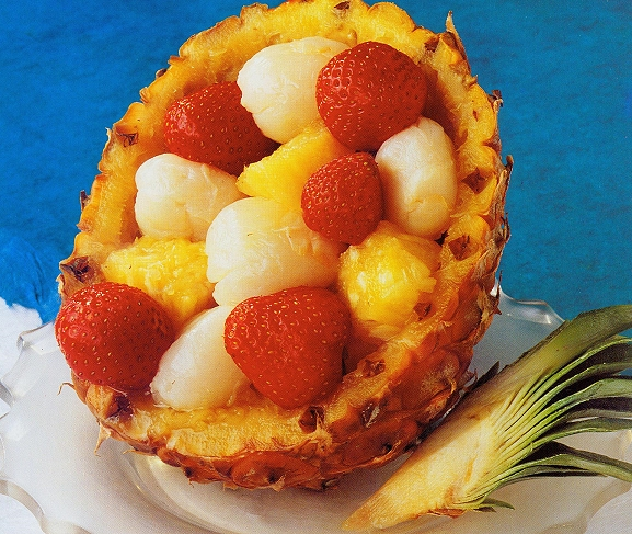 Iced Pineapple Crush with Strawberries and Lychees | Best Healthy ...