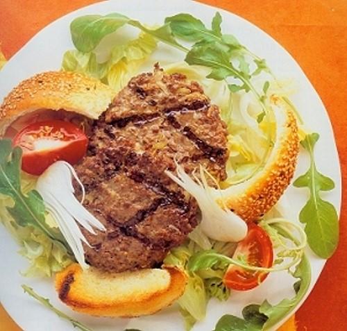 Rockburger Salad with Sesame Croutons Recipe