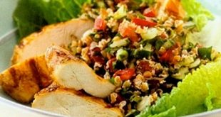 Mediterranean Tabbouleh Salad with Chicken
