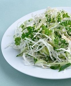 Cucumber and Cabbage Salad with Tofu