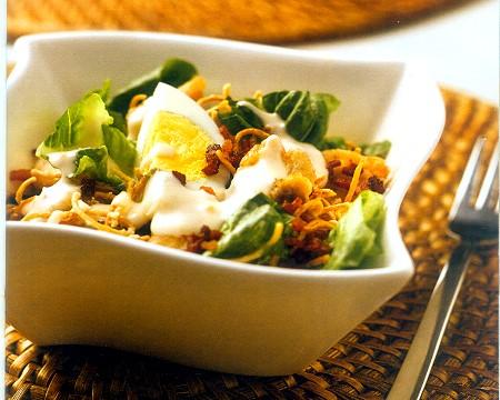 crispy noodle caesar salad recipe
