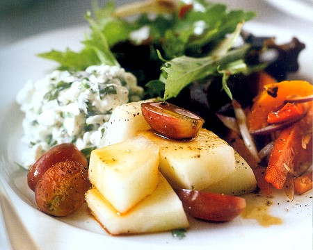 fruity cottage cheese salad