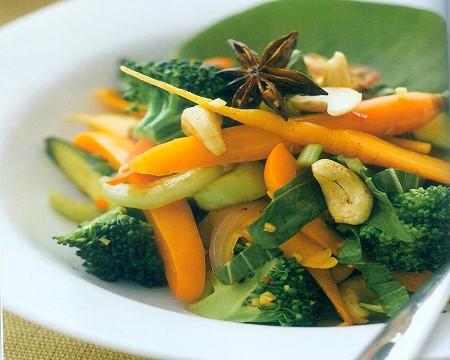 warm oriental-style salad