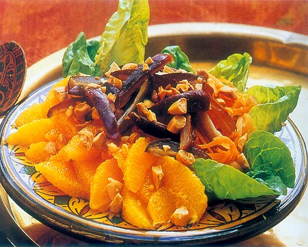 moroccan dates, orange and carrot salad