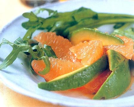 Pink Grapefruit and Avocado Salad