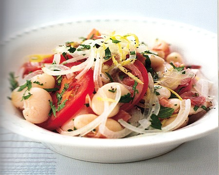 herby lima bean salad