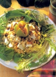 goat-cheese-salad-with-buckwheat-figs-and-walnuts