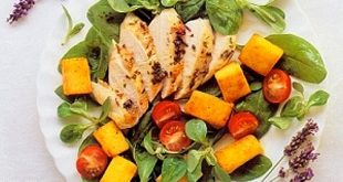 Grilled Chicken Salad with Lavender and Sweet Herbs Recipe