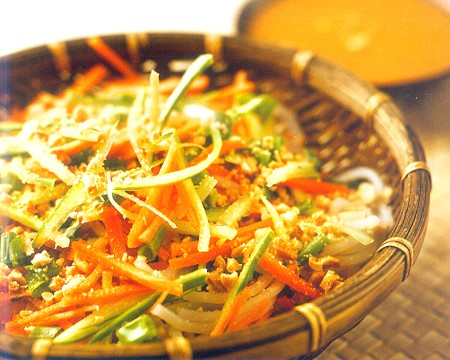 Chinese Cold Noodles Salad with Peanut Sauce Recipe | Best Healthy ...