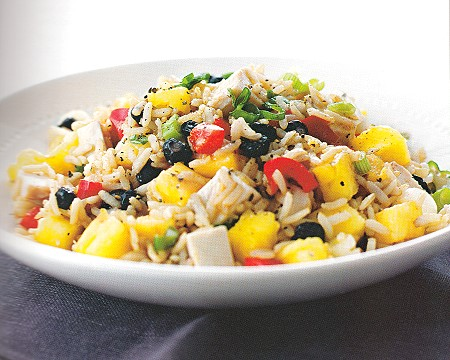 chicken, pineapple and rice salad